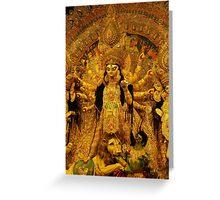 Durga Puja, 2010, Maddox Square, Kolkata, India Greeting Card