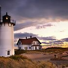 Stormy Skies Over Race Point Lighthouse by bettywiley