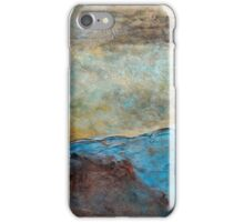 "Large Wall Art , Abstract art, Contemporary art, Original textured painting, Nature Wall Art ""Canyon Sunset"" iPhone Case/Skin"