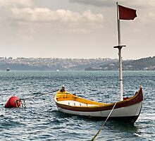 boat in sea by saaton