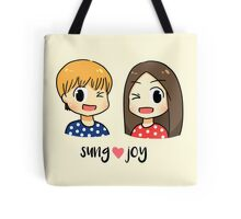 We got married: Sungjae Joy couple Tote Bag
