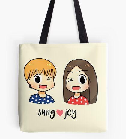 We got married: Sungjae Joy couple Tote Bag
