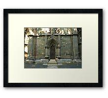 A door - Nidaros Cathadral Framed Print