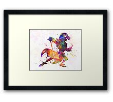 Captain Hook in watercolor Framed Print