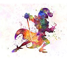 Captain Hook in watercolor Photographic Print