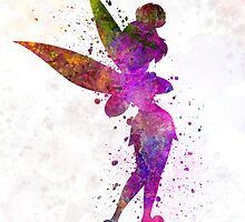 Tinkerbell in watercolor by paulrommer