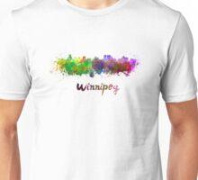 Winnipeg skyline in watercolor Unisex T-Shirt
