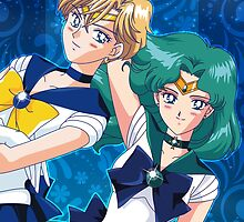 Sailor Uranus e Neptune by Rickykun