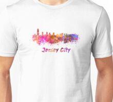 Jersey City skyline in watercolor Unisex T-Shirt