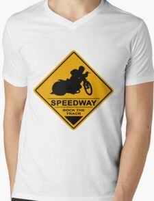 Speedway Motorcycle Racing Mens V-Neck T-Shirt