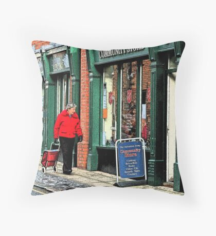 Secondhand Rose Throw Pillow