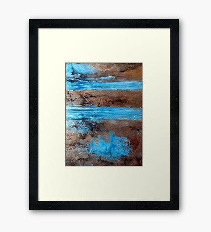 "Large Wall Art , Abstract art, Contemporary art, Original textured painting, Nature Wall Art "" Utopia "" Framed Print"