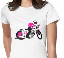 Speedway Motorcycle Racing Womens Fitted T-Shirt