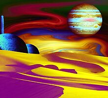 Psychedelic Landscape by Christine Lake