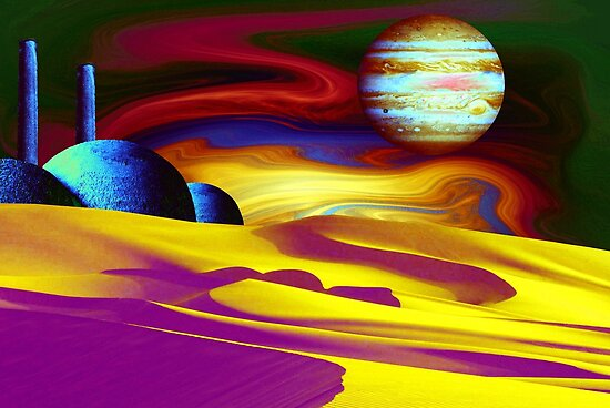 Psychedelic Landscape by Christine Lake