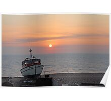 Sunrise English Channel Poster