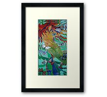 Mermaid and Butterflies Framed Print