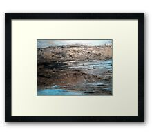 """Large Wall Art , Abstract art, Contemporary art, Original textured painting, Nature Wall Art """"Waters Edge"""" Framed Print"""