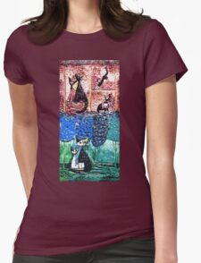 Exclusive: My Creations Artistic Sculpture Relief fact Main 12  PAINT (Photography & Design & Illustration ) (c)(h) by Olao-Olavia / Okaio Créations Womens Fitted T-Shirt