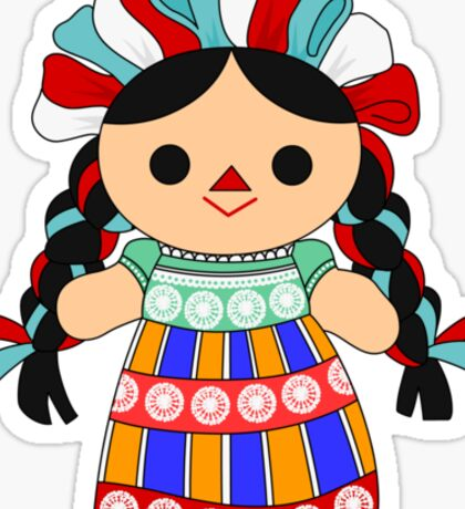 Maria 6 (Mexican Doll) Sticker
