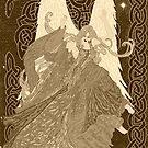 Celtic Nouveau Christmas Angel by redqueenself