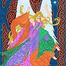 Celtic Nouveau Angel by redqueenself