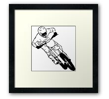 Moto Cross Framed Print