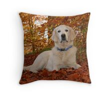Ditte in the golden leaves Throw Pillow