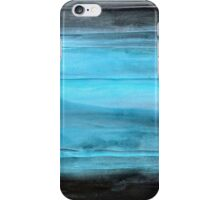 "Abstract Wall Art Contemporary art, Painting Original abstract painting textured Painting, Black and Blue "" Legend"" iPhone Case/Skin"