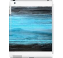 """Abstract Wall Art Contemporary art, Painting Original abstract painting textured Painting, Black and Blue """" Legend"""" iPad Case/Skin"""