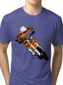 Supercross - Moto Cross Tri-blend T-Shirt