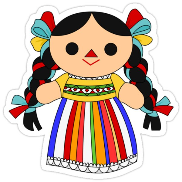 Quot Maria 2 Mexican Doll Quot Stickers By Alapapaju Redbubble