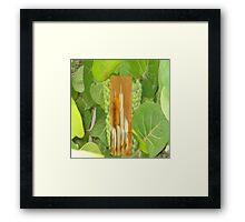 leaf candle Framed Print