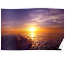 Trailing Sun Atlantic Ocean Poster