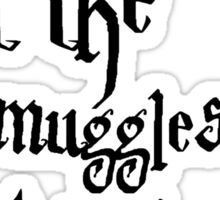 Don't let the muggles get you down - Harry Potter Sticker