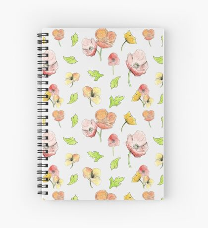 Summer Pastel Florals Spiral Notebook