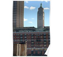 The Oxo Tower and admirer 2 Poster