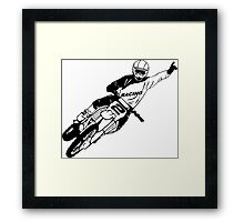 Moto Cross Jumper Framed Print