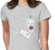 Cats, Starbucks & Music Womens Fitted T-Shirt