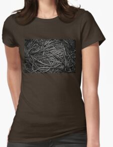 Abstract Industrial Background Womens Fitted T-Shirt