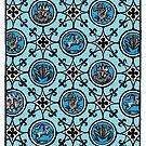 Back of divination card by Ellis Nadler