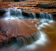 Archangel Falls, Left Fork of the North Creek, Zion by Clayhaus