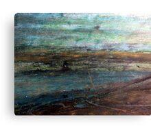 Mystery In Scenery. Dark River landscape. Canvas Print