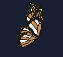Orange Monarch Butterfly Kids Clothes