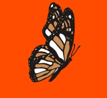 Orange Monarch Butterfly Kids Tee