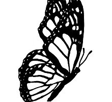 Black and White Butterfly by davidharryart