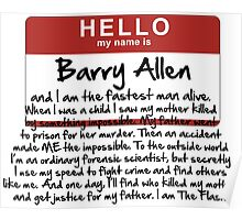 My name is Barry Allen – Season One Poster