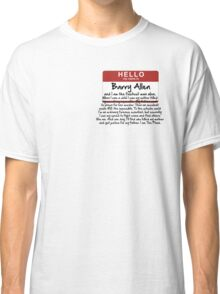 My name is Barry Allen – Season One Classic T-Shirt