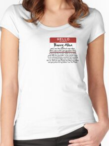 My name is Barry Allen – Season One Women's Fitted Scoop T-Shirt