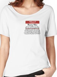 My name is Barry Allen – Season One Women's Relaxed Fit T-Shirt